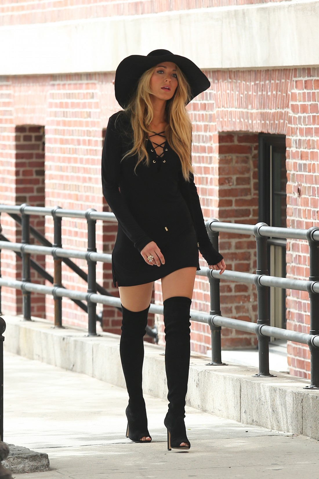 Blake Lively seen having a photoshoot in the West Village, New York City